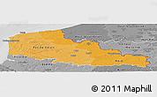 Political Shades Panoramic Map of Nord-Pas-de-Calais, desaturated