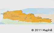 Political Shades Panoramic Map of Nord-Pas-de-Calais, lighten