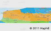 Political Shades Panoramic Map of Nord-Pas-de-Calais