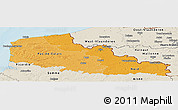 Political Shades Panoramic Map of Nord-Pas-de-Calais, shaded relief outside