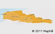 Political Shades Panoramic Map of Nord-Pas-de-Calais, single color outside