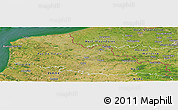 Satellite Panoramic Map of Nord-Pas-de-Calais