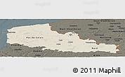 Shaded Relief Panoramic Map of Nord-Pas-de-Calais, darken