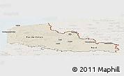 Shaded Relief Panoramic Map of Nord-Pas-de-Calais, lighten