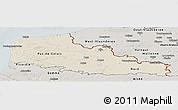 Shaded Relief Panoramic Map of Nord-Pas-de-Calais, semi-desaturated