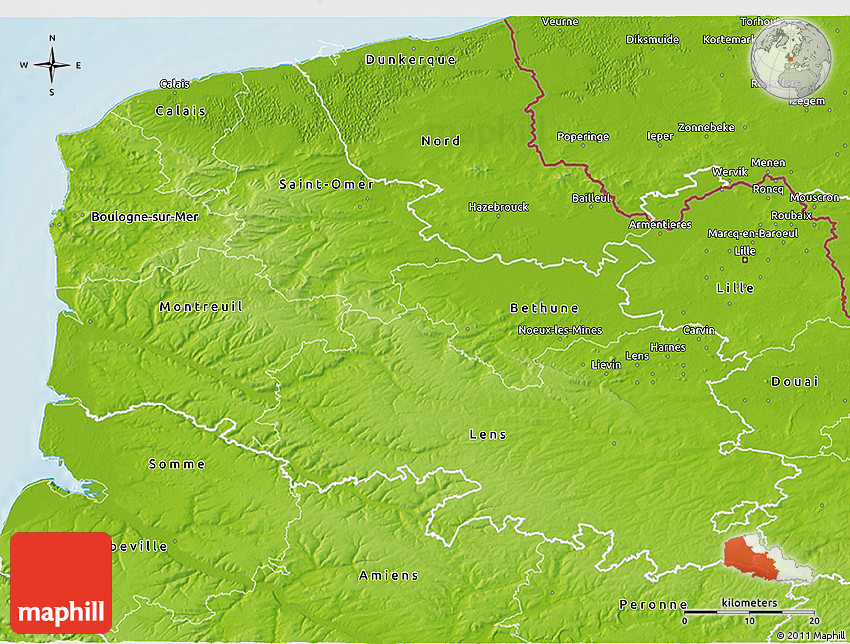 Nord Pas De Calais : physical 3d map of pas de calais ~ Maxctalentgroup.com Avis de Voitures
