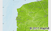 Physical Map of Boulogne-sur-Mer