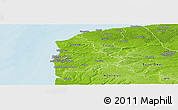 Physical Panoramic Map of Boulogne-sur-Mer
