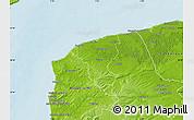 Physical Map of Calais