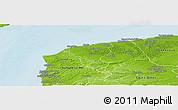 Physical Panoramic Map of Calais