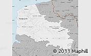 Gray Map of Pas-de-Calais
