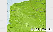 Physical Map of Pas-de-Calais