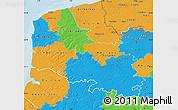 Political Map of Pas-de-Calais