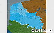 Political Shades Map of Pas-de-Calais, darken