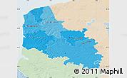 Political Shades Map of Pas-de-Calais, lighten