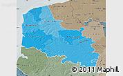 Political Shades Map of Pas-de-Calais, semi-desaturated
