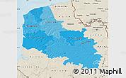 Political Shades Map of Pas-de-Calais, shaded relief outside