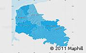 Political Shades Map of Pas-de-Calais, single color outside