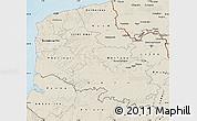 Shaded Relief Map of Pas-de-Calais