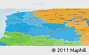 Political Shades Panoramic Map of Pas-de-Calais