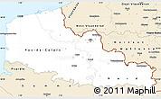 Classic Style Simple Map of Nord-Pas-de-Calais