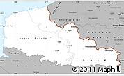 Gray Simple Map of Nord-Pas-de-Calais