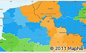Political Simple Map of Nord-Pas-de-Calais