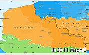 Political Shades Simple Map of Nord-Pas-de-Calais