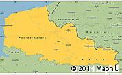 Savanna Style Simple Map of Nord-Pas-de-Calais