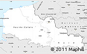 Silver Style Simple Map of Nord-Pas-de-Calais