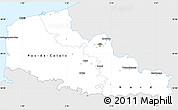 Silver Style Simple Map of Nord-Pas-de-Calais, single color outside