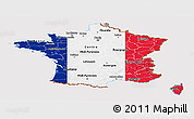 Flag Panoramic Map of France