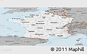 Gray Panoramic Map of France