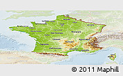 Physical Panoramic Map of France, lighten