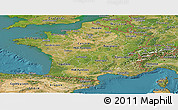 Satellite Panoramic Map of France