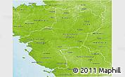 Physical 3D Map of Pays-de-la-Loire