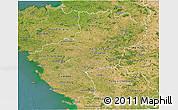 Satellite 3D Map of Pays-de-la-Loire