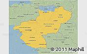 Savanna Style 3D Map of Pays-de-la-Loire