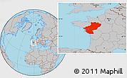 Gray Location Map of Pays-de-la-Loire