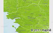 Physical 3D Map of Loire-Atlantique