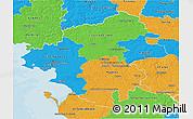 Political 3D Map of Loire-Atlantique
