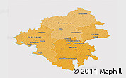 Political Shades 3D Map of Loire-Atlantique, cropped outside