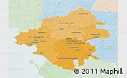 Political Shades 3D Map of Loire-Atlantique, lighten
