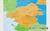 Political Shades 3D Map of Loire-Atlantique