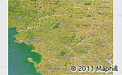 Satellite 3D Map of Loire-Atlantique