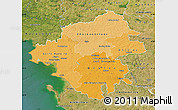 Political Shades Map of Loire-Atlantique, satellite outside