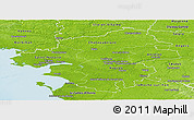 Physical Panoramic Map of Loire-Atlantique