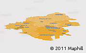 Political Shades Panoramic Map of Loire-Atlantique, cropped outside