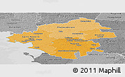 Political Shades Panoramic Map of Loire-Atlantique, desaturated