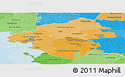 Political Shades Panoramic Map of Loire-Atlantique